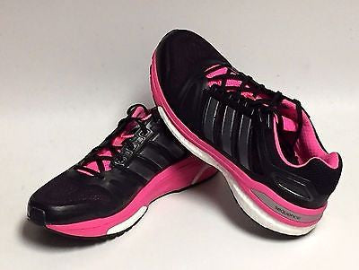 NEW PINK BLACK Adidas Women's Supernova Sequence 7 Boost Running Shoes Size 6 8