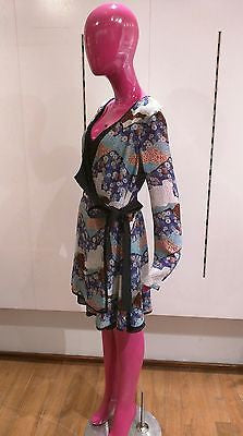 Proenza Schouler Japanese Print Wrap Dress Size 8 M Medium New
