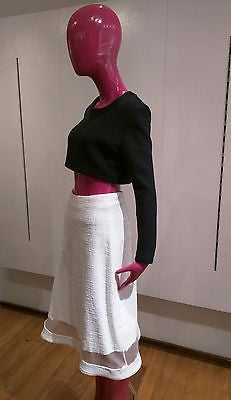 Katie Ermilio Cropped Cashmere Sweater Size 8 New