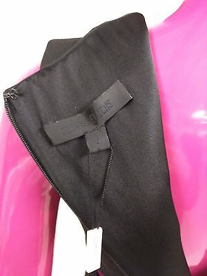 CUSHNIE ET OCHS BLACK LULLABY CUT OUT TOP SIZE 4 S SMALL