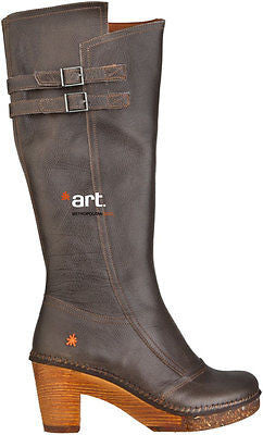 "NEW IN BOX The Art Company Brand Premium Tall Leather Boots Shoes 0304 2"" Heels"