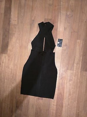 NWT Flattering Little Black Bandage Dress Bodycon S Small Size  0 2 4 New