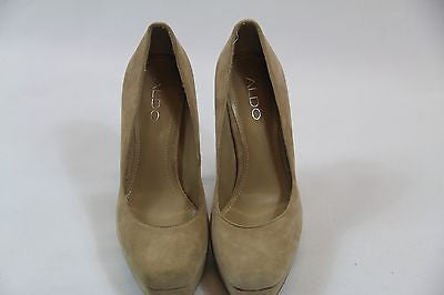 Aldo Sexy Tan Suede Leather Platform High Heels Size 5