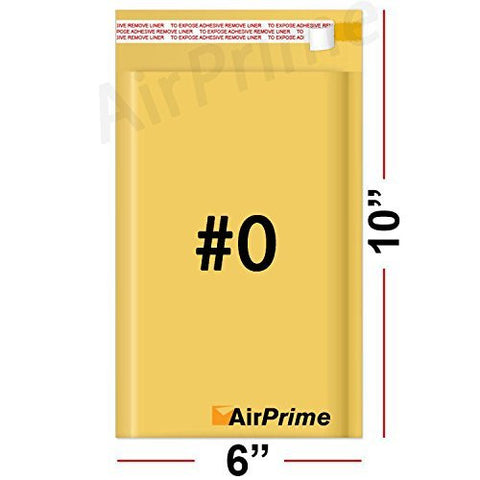 Size 0 6 X 10 25 Count Kraft Bubble Padded Self Seal Cushion Envelope Mailers Airprime