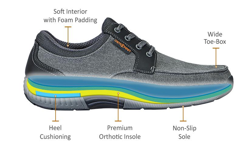 Orthotic Casual Shoes for Men