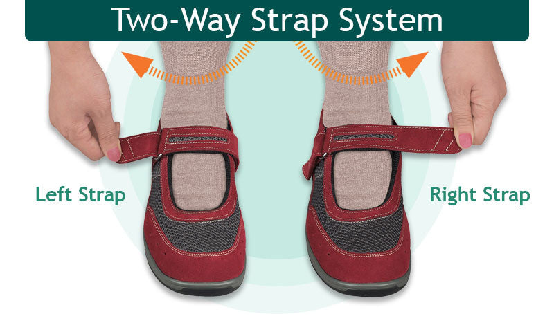 Arthritis Diabetic Foot Pain No Lace Velcro Strap Shoes | Orthofeet