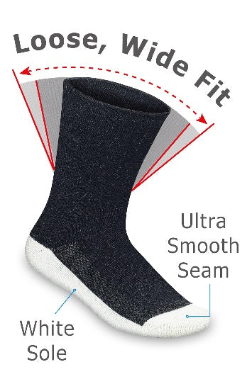wide fit diabetic socks
