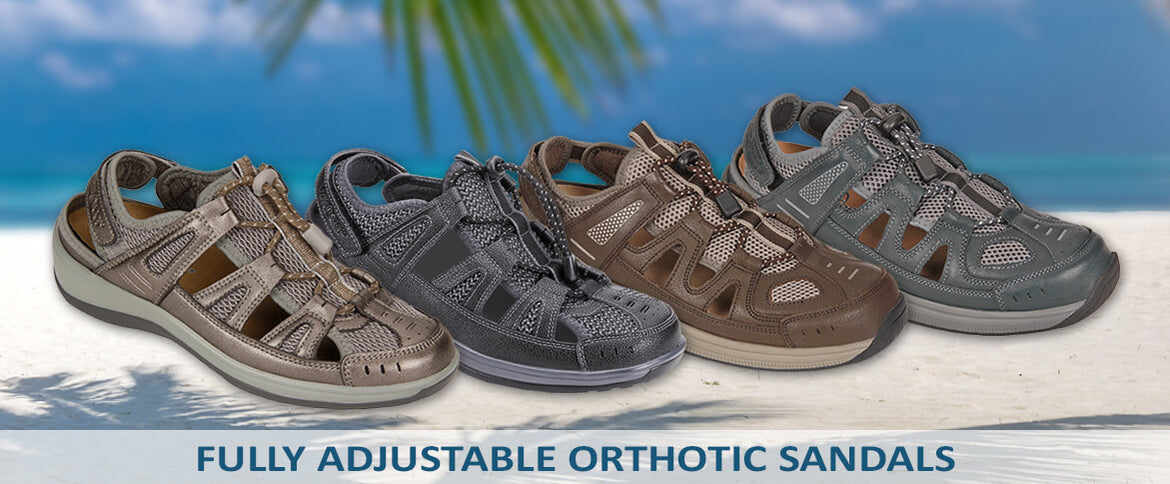 ae5c9c44bd Innovative Ortho-Cushion technology offers the most comfortable orthopedic  sandals. OrthoFeet ...
