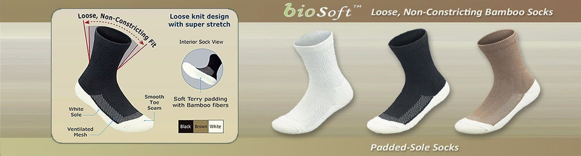 Comfort Diabetic Soft Seamless Bamboo Circulation Socks | Orthofeet