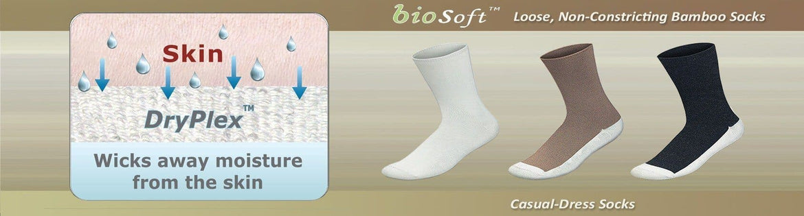 Comfortable Seam Free Diabetic Non Binding Bamboo Socks | Orthofeet