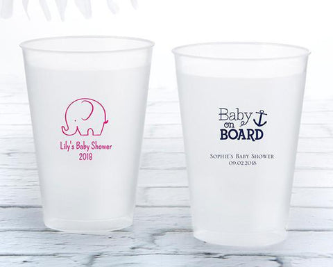 12 Oz. Frosted Flex Cup - Baby Shower (Set of 36)-Jubilee Favors