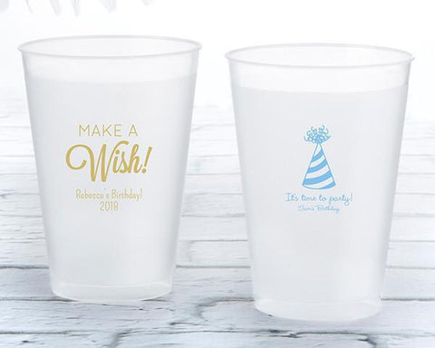12 Oz. Frosted Flex Cup - Birthday (Set of 36)-Jubilee Favors