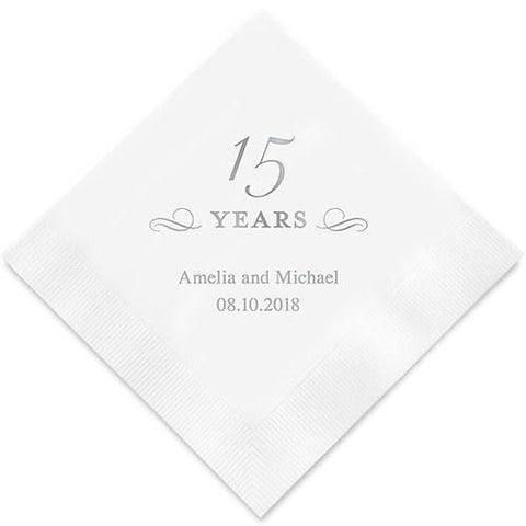 15 Years Printed Paper Napkins-Jubilee Favors
