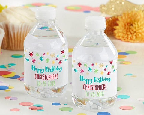 1st Birthday Personalized Water Bottle Labels-Jubilee Favors