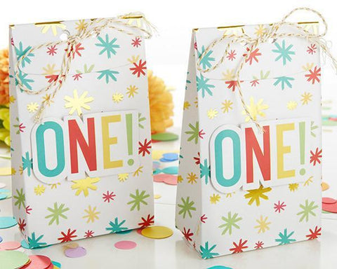 1st Birthday Tall Treat Box (Set of 24)-Jubilee Favors