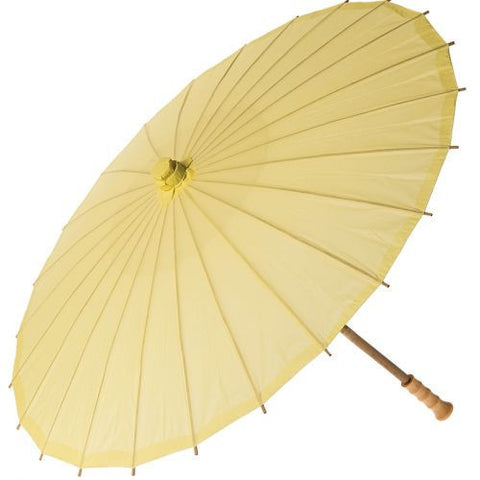 32 Inch Premium Paper Parasol - Yellows-Jubilee Favors