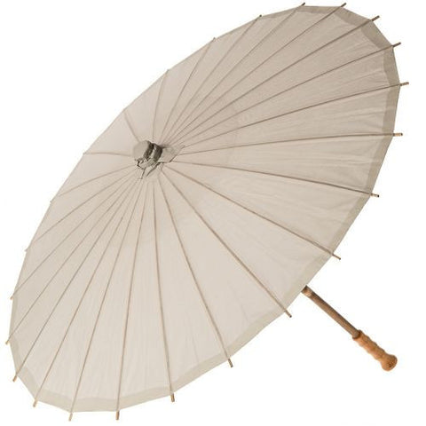 32 Inch Small Premium Paper Parasol - Neutrals-Jubilee Favors