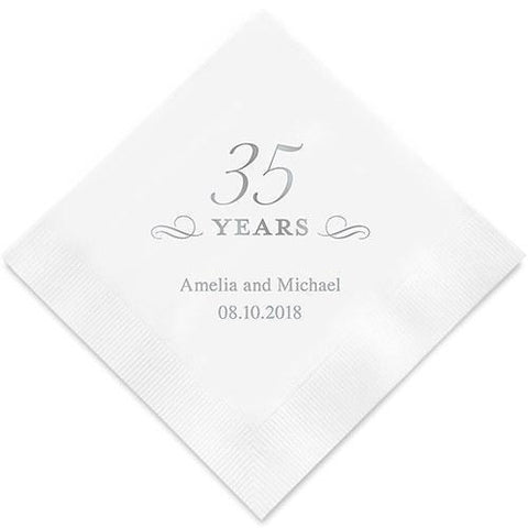 35 Years Printed Paper Napkins-Jubilee Favors