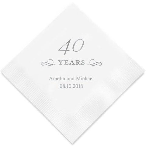 40 Years Printed Paper Napkins-Jubilee Favors