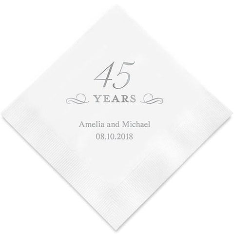 45 Years Printed Paper Napkins-Jubilee Favors