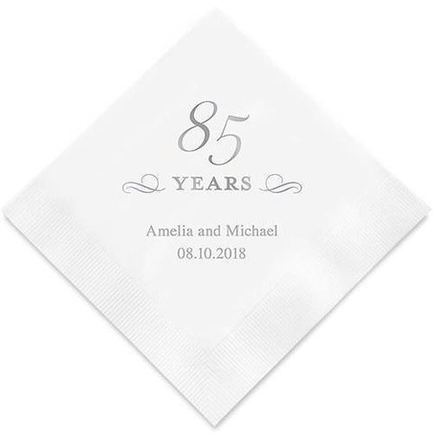85 Years Printed Paper Napkins-Jubilee Favors