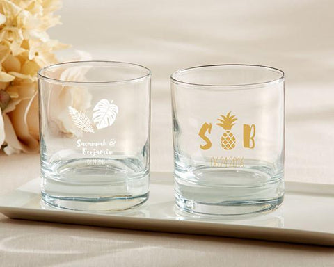 9 oz. Rocks Glasses - Pineapples and Palms (Set of 36)-Jubilee Favors