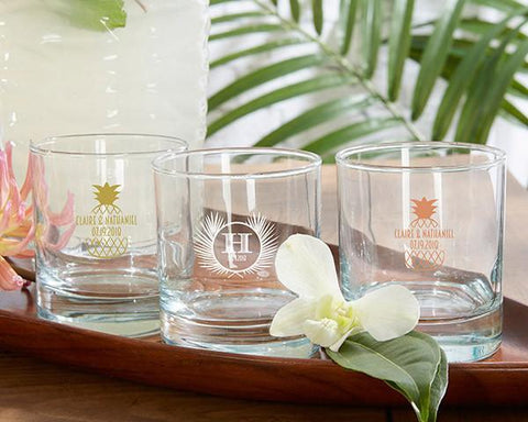 9 oz. Rocks Glasses - Tropical Chic (Set of 36)-Jubilee Favors