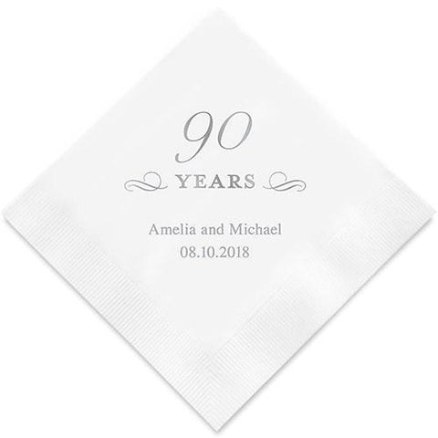 90 Years Printed Paper Napkins-Jubilee Favors