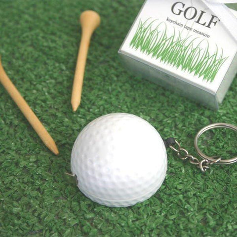 """A Leisurely Game of Love"" Golf Ball Tape Measure-Jubilee Favors"