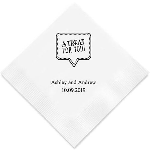 A Treat For You Printed Paper Napkins-Jubilee Favors