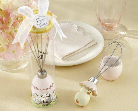 """About to Hatch"" Stainless-Steel Egg Whisk in Showcase Gift Box-Jubilee Favors"