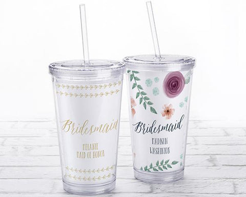 Acrylic Tumbler With Personalized Insert - Bridesmaid-Jubilee Favors