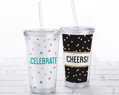 Acrylic Tumbler With Personalized Insert - Party Time-Jubilee Favors
