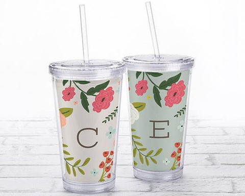 Acrylic Tumbler With Personalized Insert - Vintage-Jubilee Favors