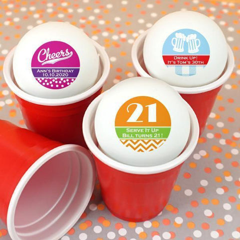 Adult Birthday Ping Pong Ball Favors-Jubilee Favors