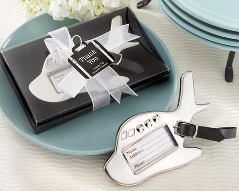 Airplane Luggage Tag in Gift Box with suitcase tag-Jubilee Favors