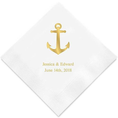 Anchor Printed Paper Napkins-Jubilee Favors