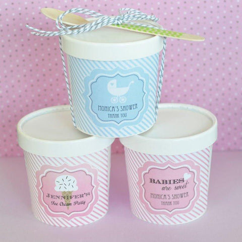 """Babies are Sweet"" Mini Ice Cream Containers-Jubilee Favors"