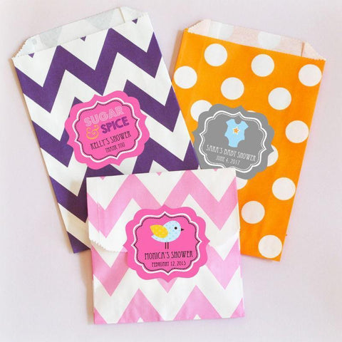 Babies are Sweet Personalized Goodie Bags (set of 12)-Jubilee Favors