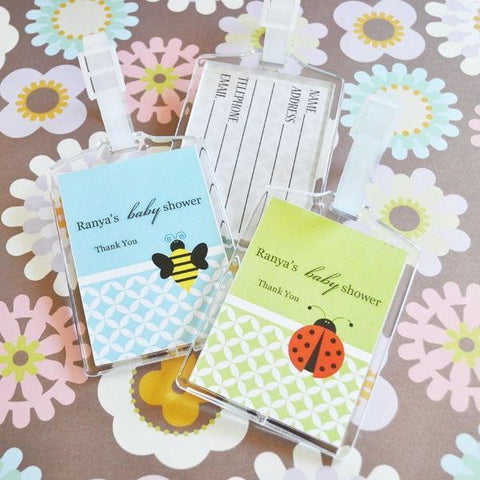 Baby Animal Acrylic Luggage Tags-Jubilee Favors