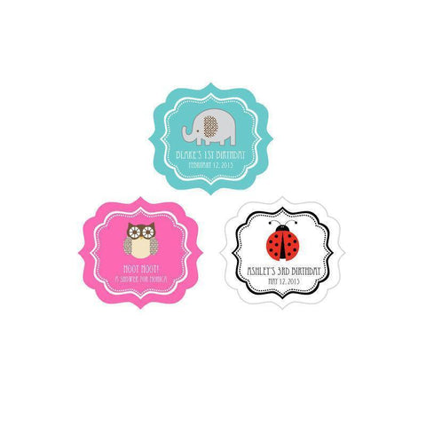 Baby Animal Frame Personalized Labels-Jubilee Favors