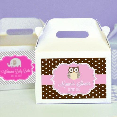 Baby Animal Mini Gable Boxes (set of 12)-Jubilee Favors