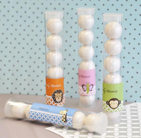 Baby Animal Personalized Candy Tubes-Jubilee Favors