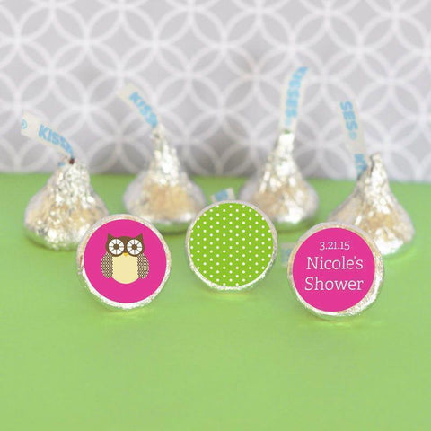 Baby Animal Personalized Hershey's® Kisses Labels Trio (Set of 108)-Jubilee Favors