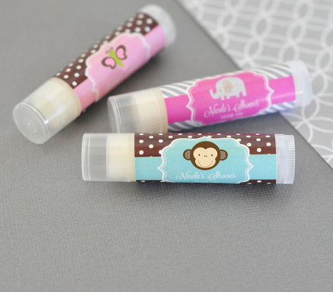 Baby Animal Personalized Lip Balm Tubes-Jubilee Favors
