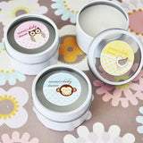 Baby Animal Personalized Round Travel Candle Tins-Jubilee Favors