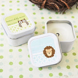Baby Animals Personalized Square Candle Tins-Jubilee Favors