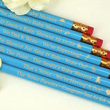 Baby Blue Personalized Pencils (Set of 12)-Jubilee Favors