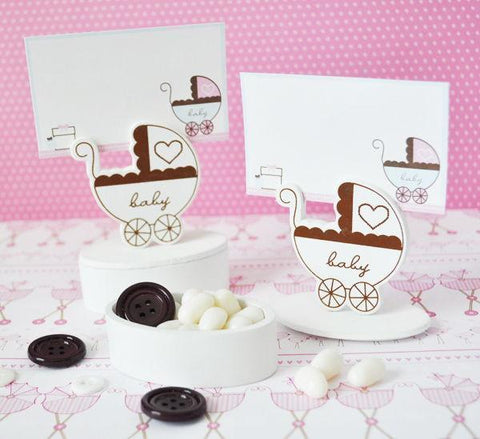 Baby Carriage Place Card Favor Boxes with Designer Place Cards (set of 12)-Jubilee Favors