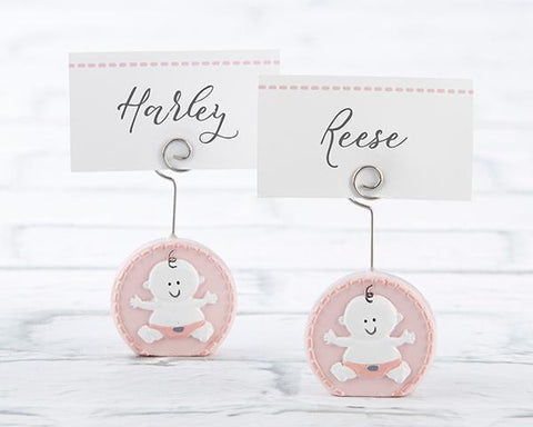 Baby Girl Pink Place Card Holder (Set of 6)-Jubilee Favors